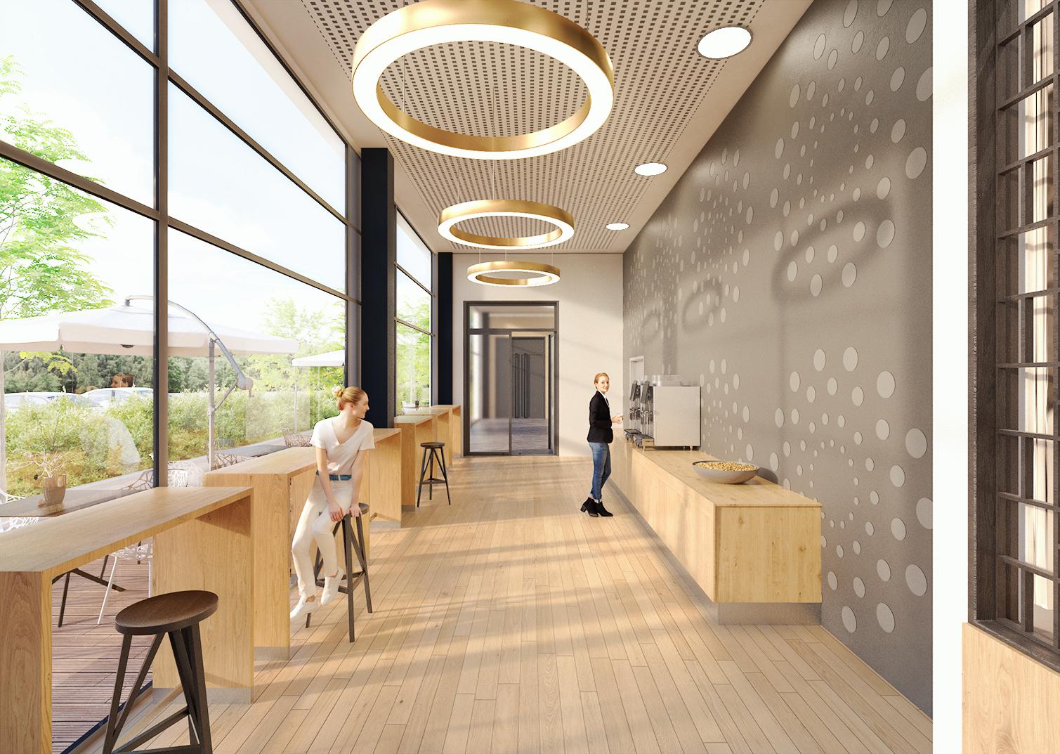 Entwurf Cafébereich